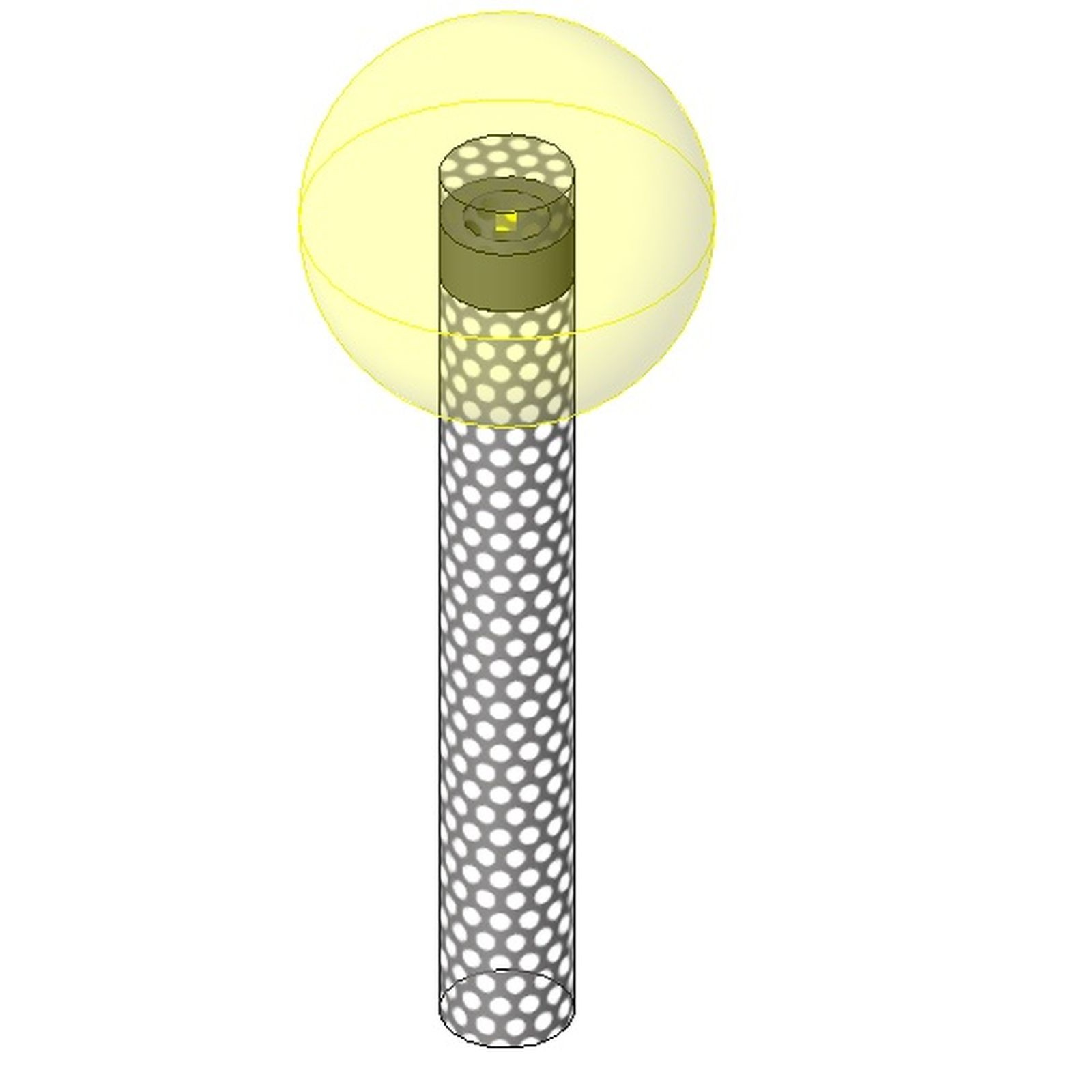 download cad files for au elec bollard with light