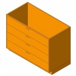 Download CAD files for Base Cabinet-4 Drawers
