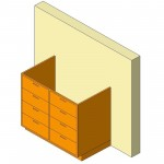 Download CAD files for Base Cabinet-4 Drawers Double-Wall