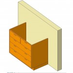 Download CAD files for Base Cabinet-5 Drawers-Wall