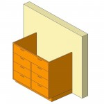 Download CAD files for Base Cabinet-7 Drawers-Wall