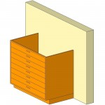 Download CAD files for Base Cabinet-8 Drawers-Wall