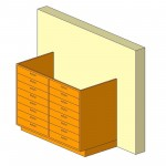 Download CAD files for Base Cabinet-8 Drawers Double-Wall