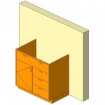 Download CAD files for Base Cabinet-Combo01-Wall