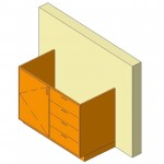 Download CAD files for Base Cabinet-Combo03-Wall