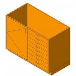 Download CAD files for Base Cabinet-Combo04