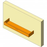 Download CAD files for Base Cabinet-Desk Drawer Unit-Wall