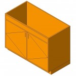 Download CAD files for Base Cabinet-Double Door Sink Unit