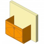 Download CAD files for Base Cabinet-Double Door Sink Unit-Wall