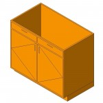 Download CAD files for Base Cabinet-Double Door & 2 Drawer