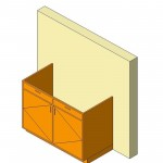 Download CAD files for Base Cabinet-Double Door & 2 Drawers-Wall