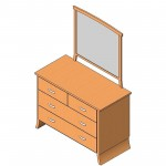 Download CAD files for Dresser 4 Drw with Mirror