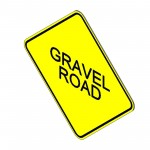 Download CAD files for Gravel Road Sign