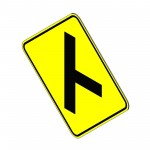 Download CAD files for Turn Right at Intersection Sign
