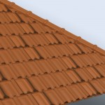 Download CAD files for French Terracotta Roof Tiles