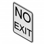 Download CAD files for No Exit Sign