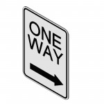 Download CAD files for One Way (Right) Sign