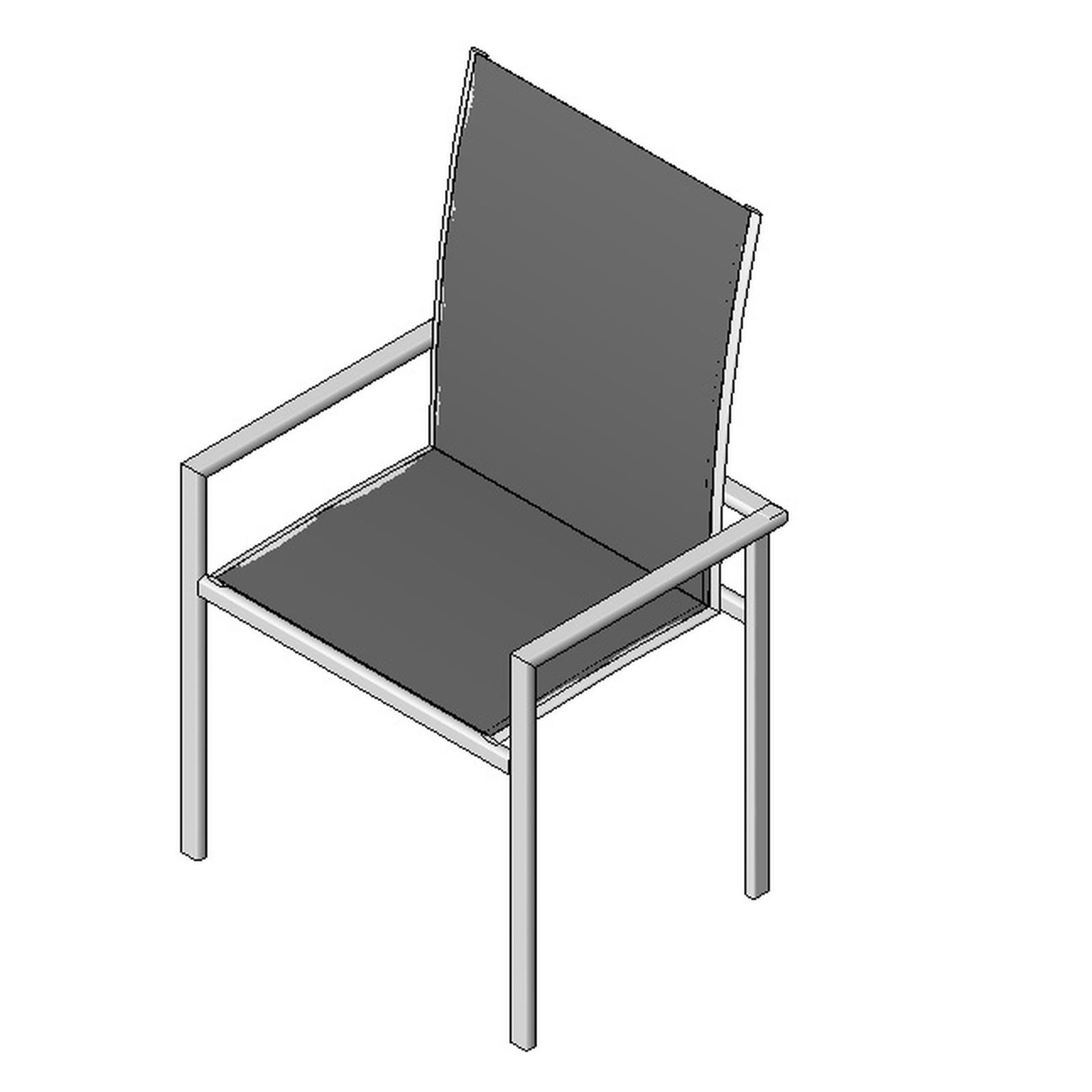 Outdoor chair type 1 design content for Outdoor furniture revit
