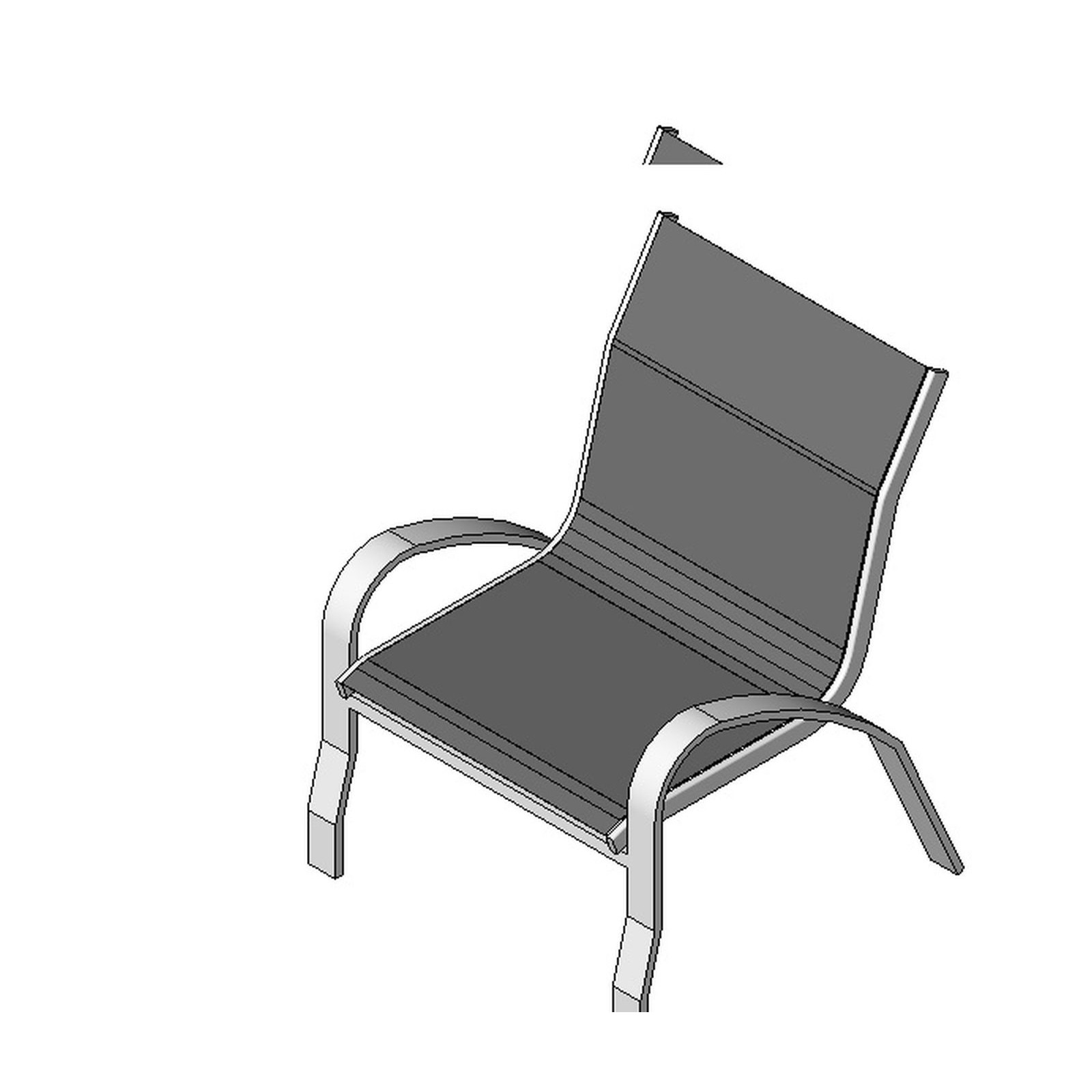 Outdoor chair type 2 design content for Outdoor furniture revit