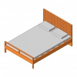 Download CAD files for Queen Bed (Type 5)