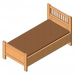 Download CAD files for Single Bed (Type 2)