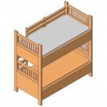 Download CAD files for Single Bunk Bed (Type 1)