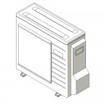 Download CAD files for Inverter Hybrid Floor Standing Reverse CycleCooling L-Series Split System 2.5kW – 3.5kW A