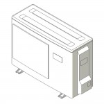 Download CAD files for Inverter Outdoor Units SASI  HeatPump 2.5kW – 3.5kW