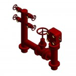 Download CAD files for Firemain BoosterHydrant Pipeset 150TE