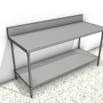 Download CAD files for Stainless Steel Bench with Splashback Type 1