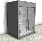 Download CAD files for Ambient Mini Tower Food Display Case