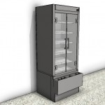 Download CAD files for Ambient Tower Food Display Case