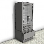 Download CAD files for Heated Tower Food Display Case
