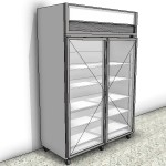 Download CAD files for Display Freezer – 2 Door Type 1