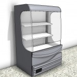 Download CAD files for Beverage Display Refrigerator – 900mm Wide