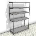 Download CAD files for 5 Shelf Stainless Steel Shelving Unit