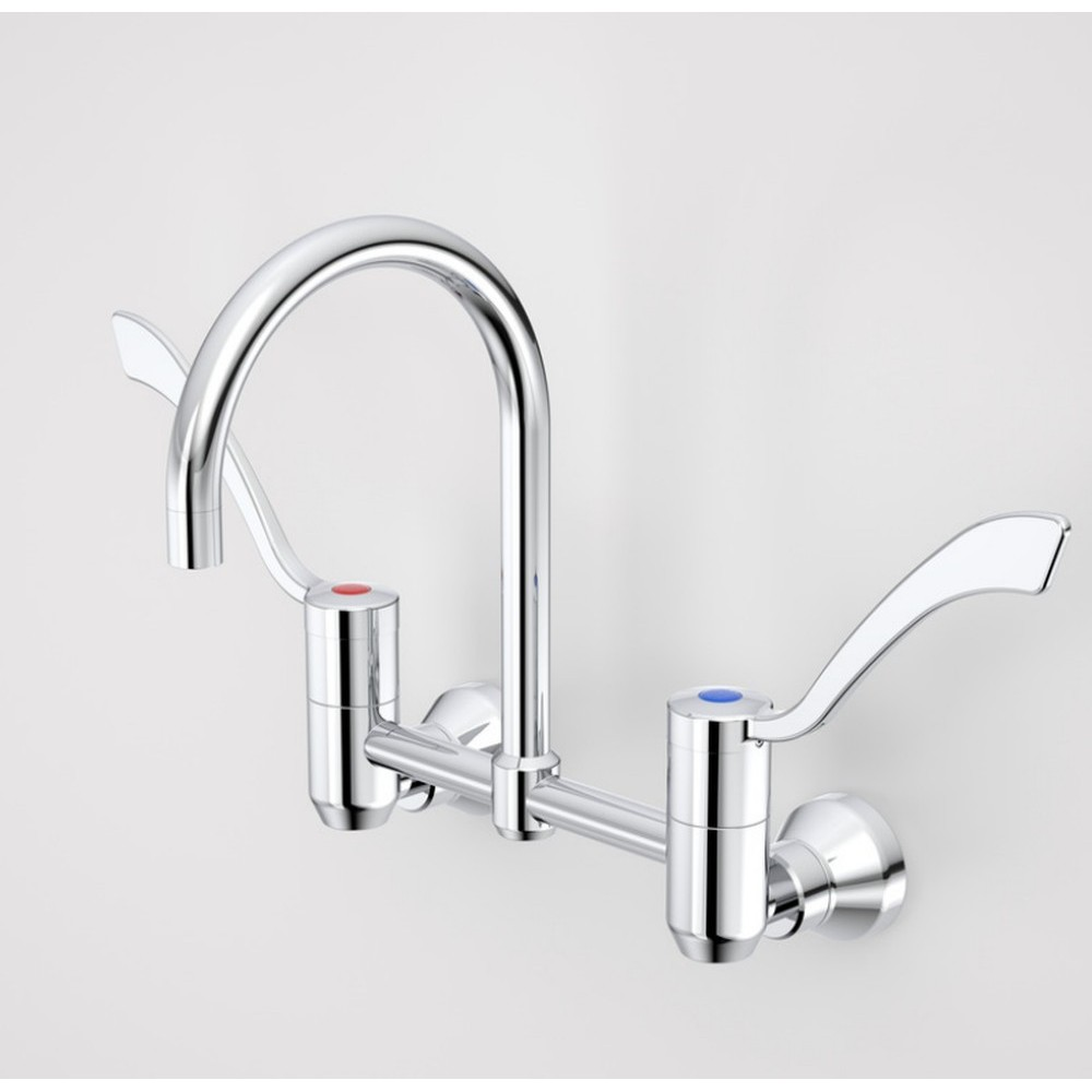 G Series Exposed Wall Sink Set 160mm Outlet 150mm Levers