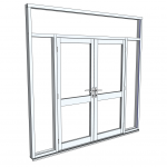 Download CAD files for Commercial Series 406 FrontGLAZE