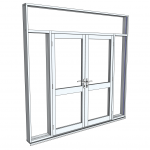Download CAD files for Architectural Series 650 Hinged Door