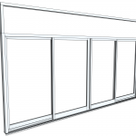 Download CAD files for Architectural Series 702 SlideMASTER Sliding Door