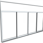 Download CAD files for Commercial Series 471 Sliding Door