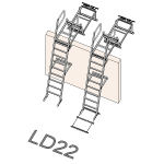 Download CAD files for Safety Access Ladder LD22