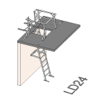 Download CAD files for Safety Access Ladder LD24