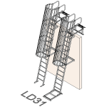 Download CAD files for Safety Access Ladder LD31