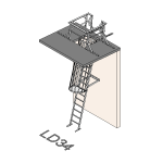Download CAD files for Safety Access Ladder LD34