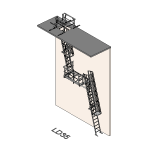 Download CAD files for Safety Access Ladder LD35