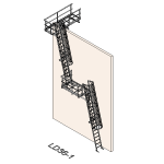 Download CAD files for Safety Access Ladder LD36