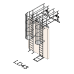 Download CAD files for Safety Access Ladder LD43