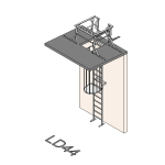 Download CAD files for Safety Access Ladder LD44