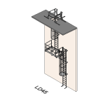 Download CAD files for Safety Access Ladder LD45